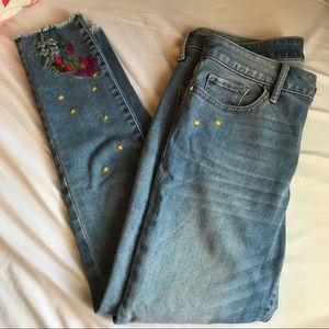 a.n.a embroidered jeans